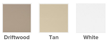 driftwood tan and white are the color options for single hung window interiors