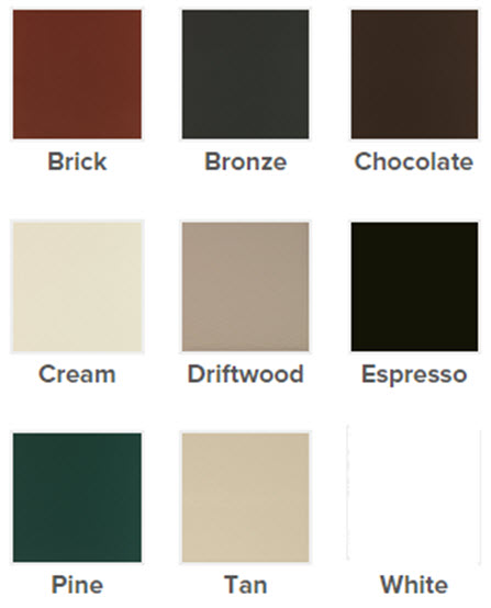 color palette for slider window exterior