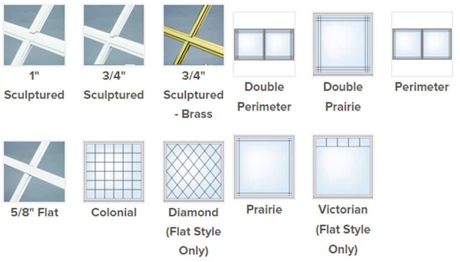 grid and pattern choices for slider windows