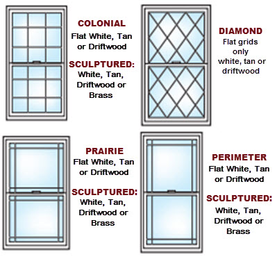 grid patterns premium windows