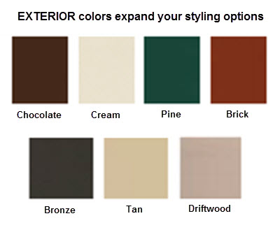 exterior colors ultra series vinyl windows