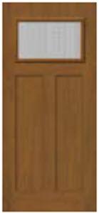 876GTX 2 panel door by BHI with Geo Tex textured glass
