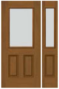 door and sidelight panel with blanca textured glass