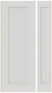 entry door with side light 8/0 blanca textured glass