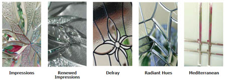 tile group for old world style door glass collection