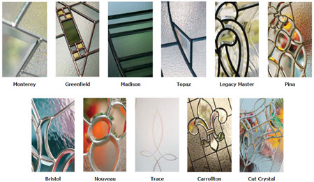 tile group for craftsman style door glass collection