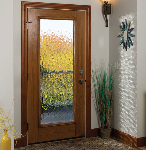 perspectives group rain style textured entry door glass