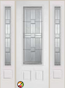 non-impact door monterey 876mo 8/0 decorative glass