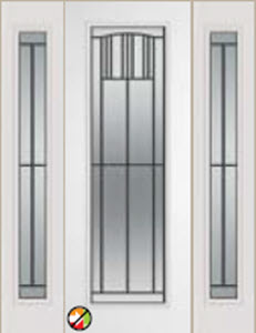 non-impact door 812mi 8 foot entry door with madison decorative glass