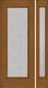 streamed textured glass in 686STM/687STM non-impact entry door