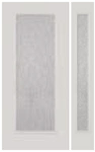 rain glass from perspectives collection in bhi 686RN door with 2 side light panels