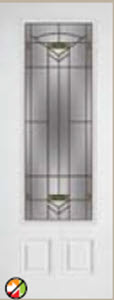 entry door with side light 8/0 greenfield decorative glass