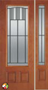 madison decorative glass in 8ft bhi 686mi entry door with 694mi sidelight