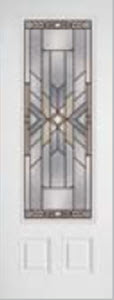 8ft impact door 686moh with mohave decorative glass