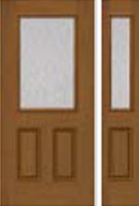 rain textured glass in bhi 684RN  panel with side light door