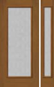 mosaic textured glass in 686-687MSC door frame with 694 sidelight