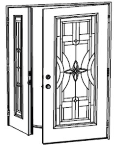 swing sidelight coupled with pre-hung entry door option available at ridge top exteriors tampa windows and doors contractor