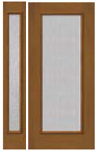 686/687 non-impact door and sidelight panel with streamed textured glass