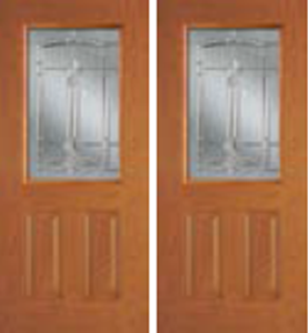non-impact entry door 684BT with bristol decorative glass