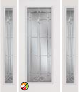 686/687BT non-impact entry door tampa contractor with bristol decorative glass