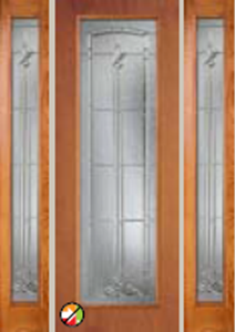 612BT 8/0 non-impact entry doors tampa contractor with bristol decorative glass