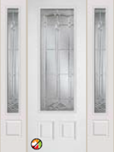 686BT 8/0 non-impact entry doors tampa contractor with bristol decorative glass