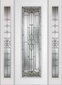 8ft impact door 612cd and 693cd sidelight with cadence glass