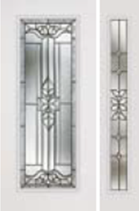impact door 686cd with 694cd sidelight cadence glass