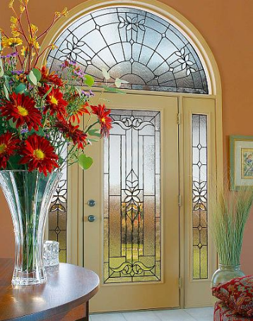 entry door glass cadence style from classic collection by odl