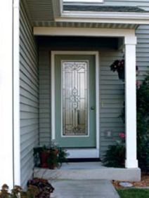 front door with cadence decorative glass