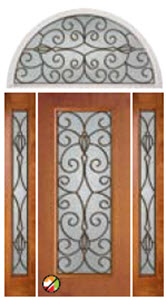 non-impact door 686ca with special order transom for catalina glass