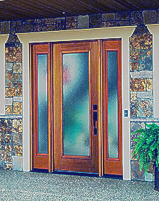 tampa windows and doors contractor ridge top exteriors offers mosaic textured door glass option