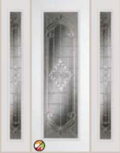 expressions glass in 8ft  612ex non-impact with  493ex sidelight
