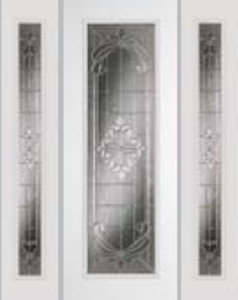 8ft impact door 612ex and 493ex sidelight with expressions glass
