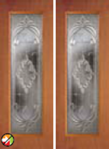 686ex non-impact door with expressions glass