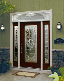 front door with expressions decorative glass