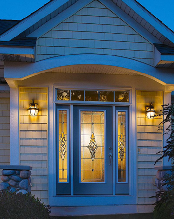 entry door glass grace style from classic collection by odl