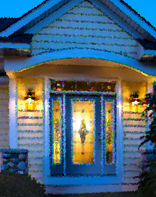 front door with grace decorative glass