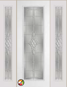 grace decorative glass 8/0 612grc non-impact entry door