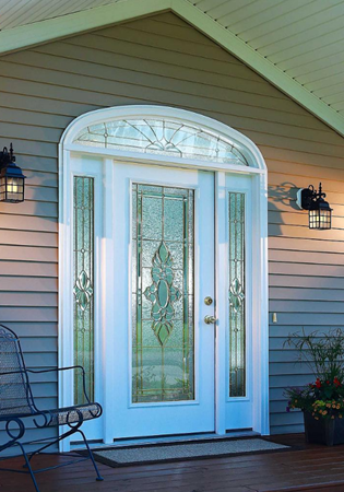 entry door glass heirlooms style from classic collection by odl