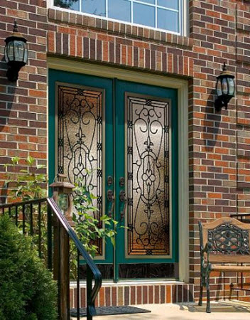 entry door glass jacinto style from old world collection by odl