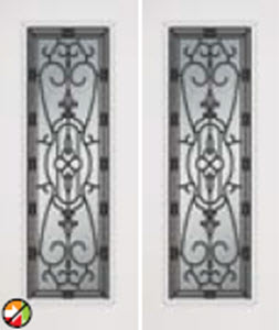 double door 687ja with jacinto glass