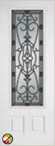 non-impact 8ft 686ja door with sidelight jacinto glass