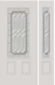 607me non-impact door with majestic glass