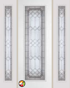 majestic decorative glass 8/0 612ME non-impact entry door