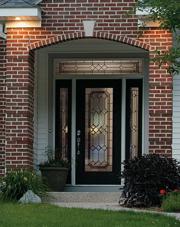entry door glass majestic style from classic collection by odl