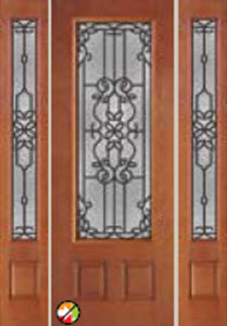 mediterranean decorative glass 8ft 686md