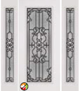 non-impact door 686md with 694md entry with mediterranean decorative glass