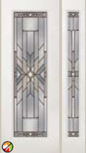 8ft entry doors mohave decorative glass in 612moh with 493moh side light