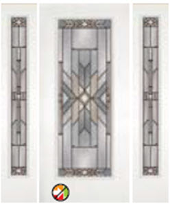 non-impact 686MOH with 694MOH sidelight entry door with mohave decorative glass